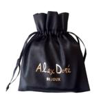 Pochon-satin-noir-Alex Dore-bijoux