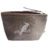 Pochette Berlingot coton taupe perroquet glitter argent Alex Doré