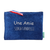 Pochette trousse Indispensable suedine bleu biface une amie sensationnelle glitter argent Alex Doré