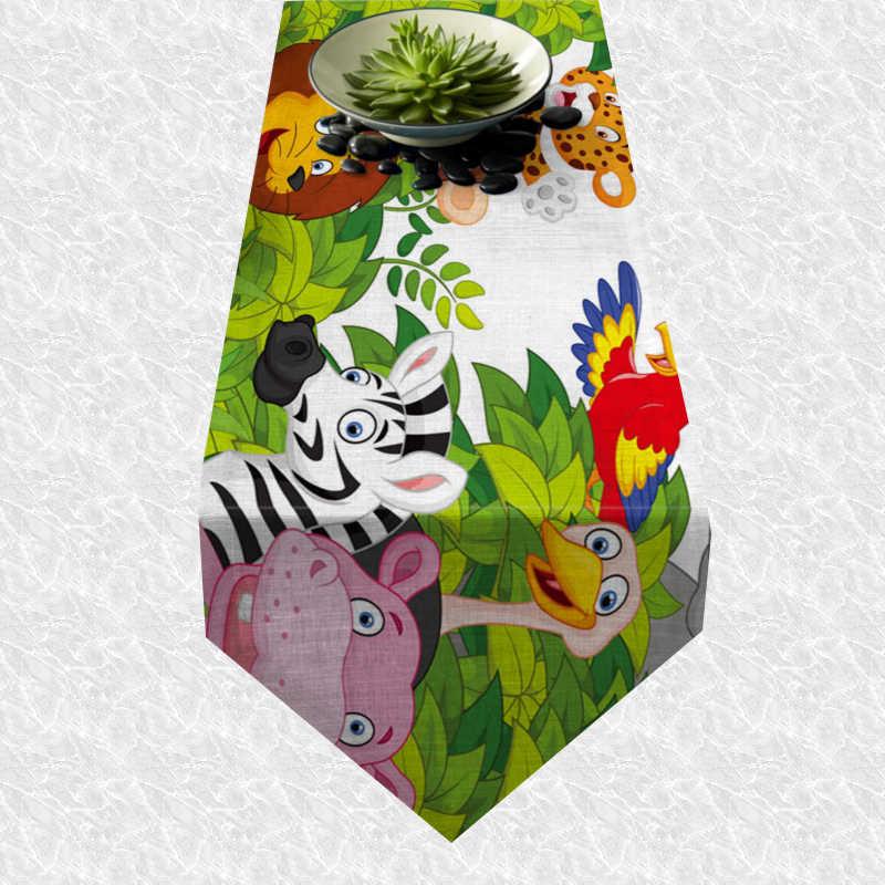 Chemin de table animaux de la jungle