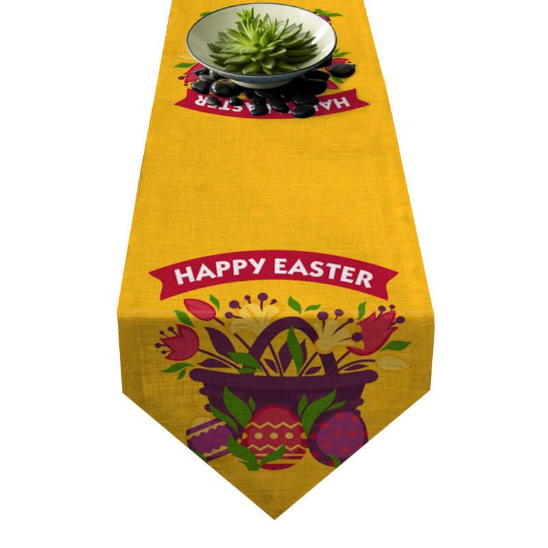 Chemin de table Pâques panier
