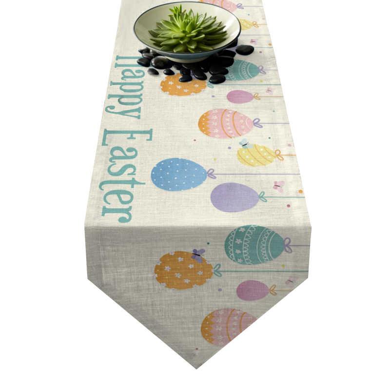 Chemin de table guirlande œufs de Pâques