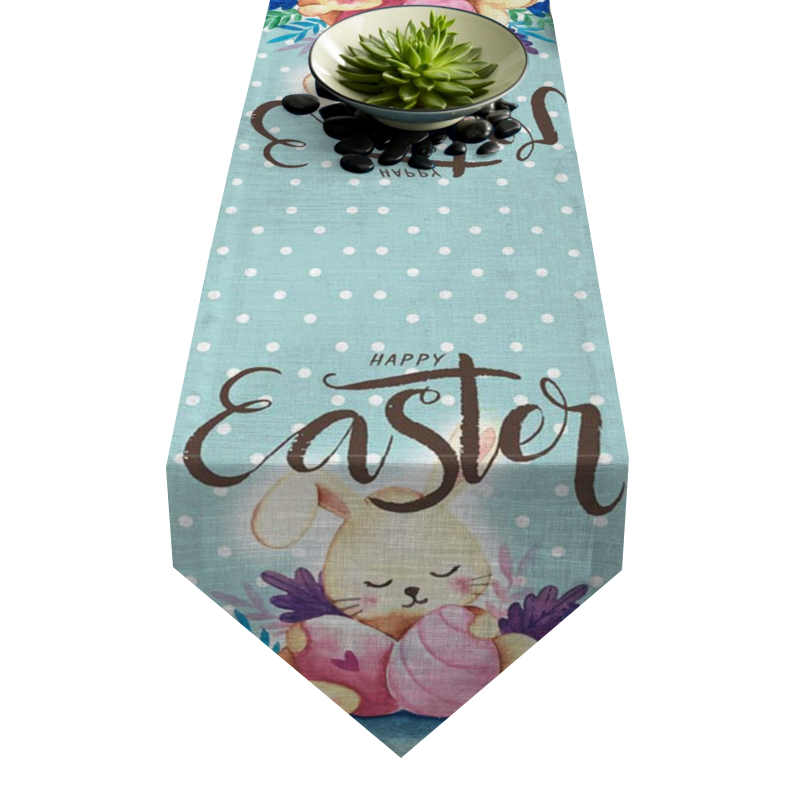 Chemin de table lapin de Pâques mignon