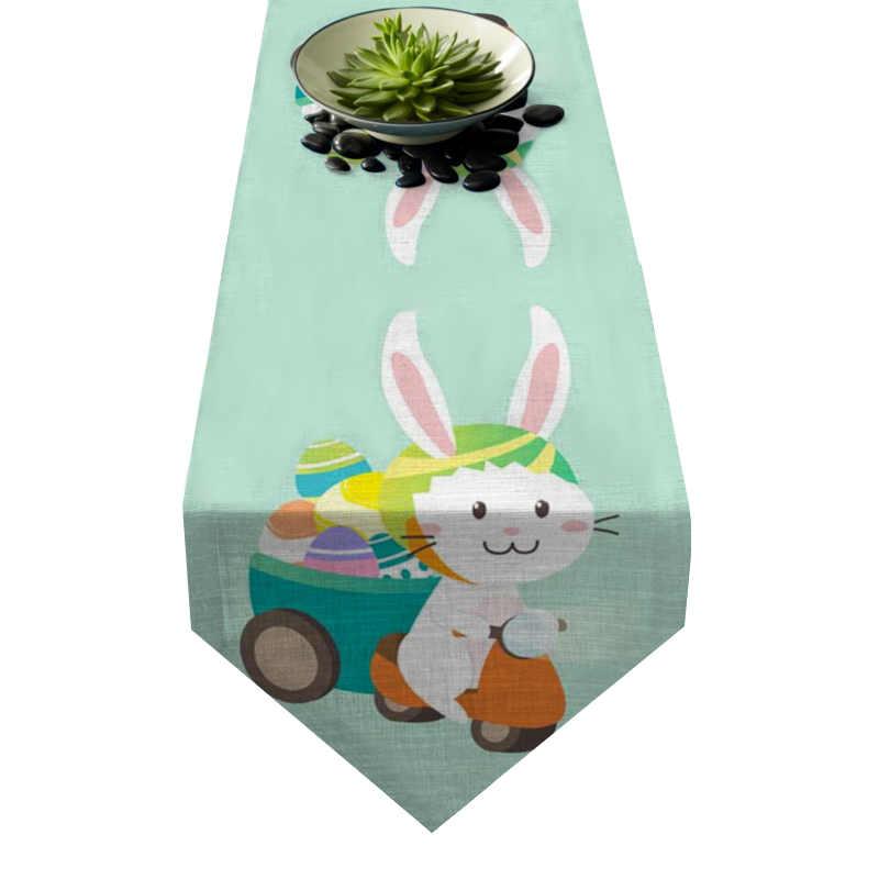 Chemin de table Pâques lapin livreur