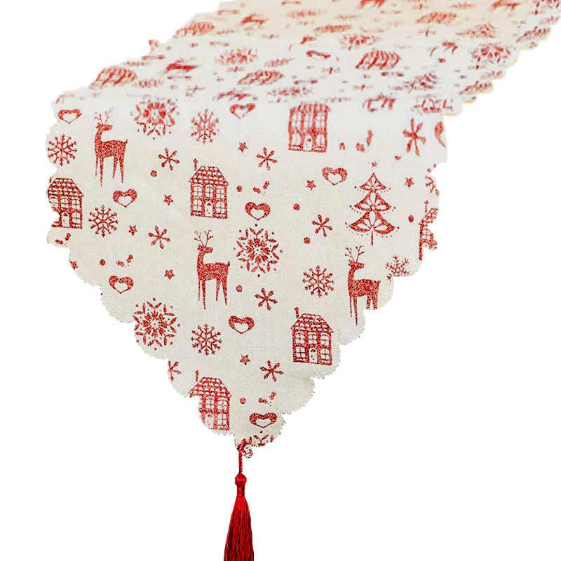Chemin de table Noël toile de jute