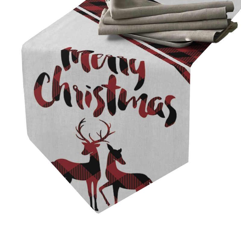 Chemin de table joyeux Noël écossais