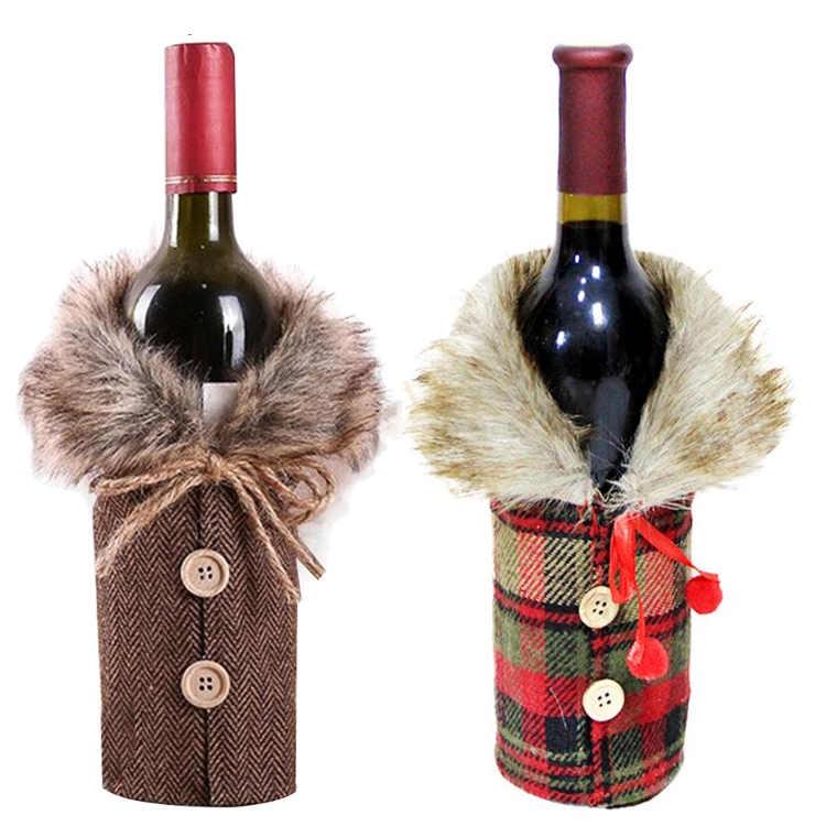Décoration de bouteille manteau ecossais