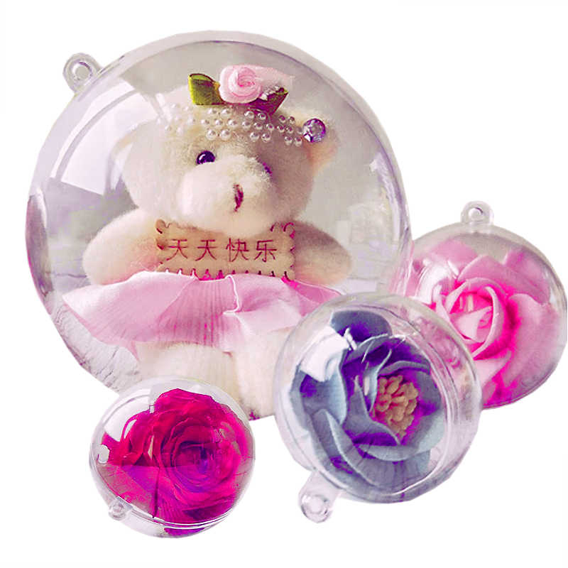 Boule de Noël transparente à garnir (x10)