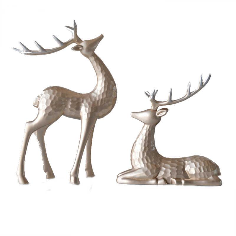 Statuette cerf deco (x2)