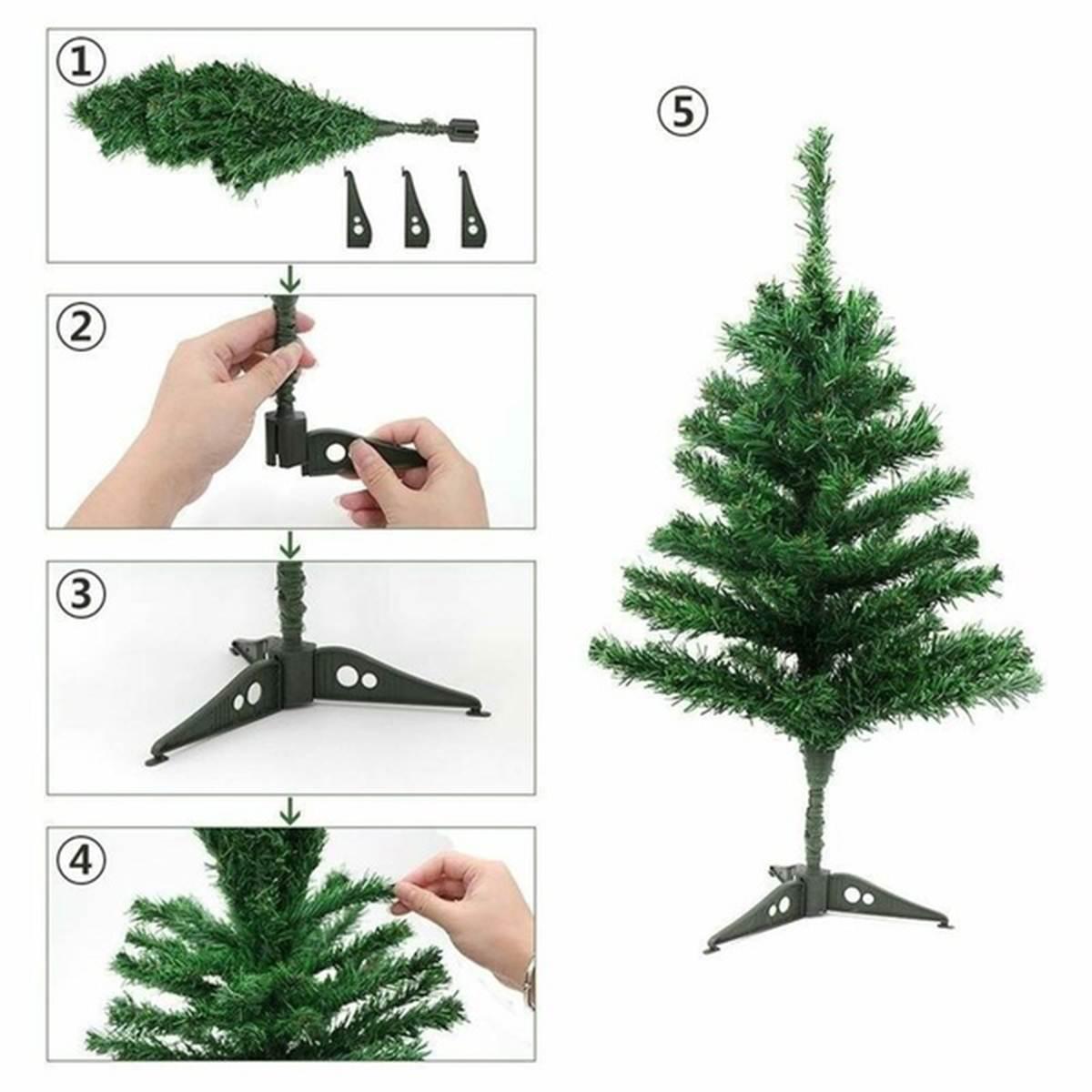Les 4 étapes de montage du sapin de Noël de table artificiel