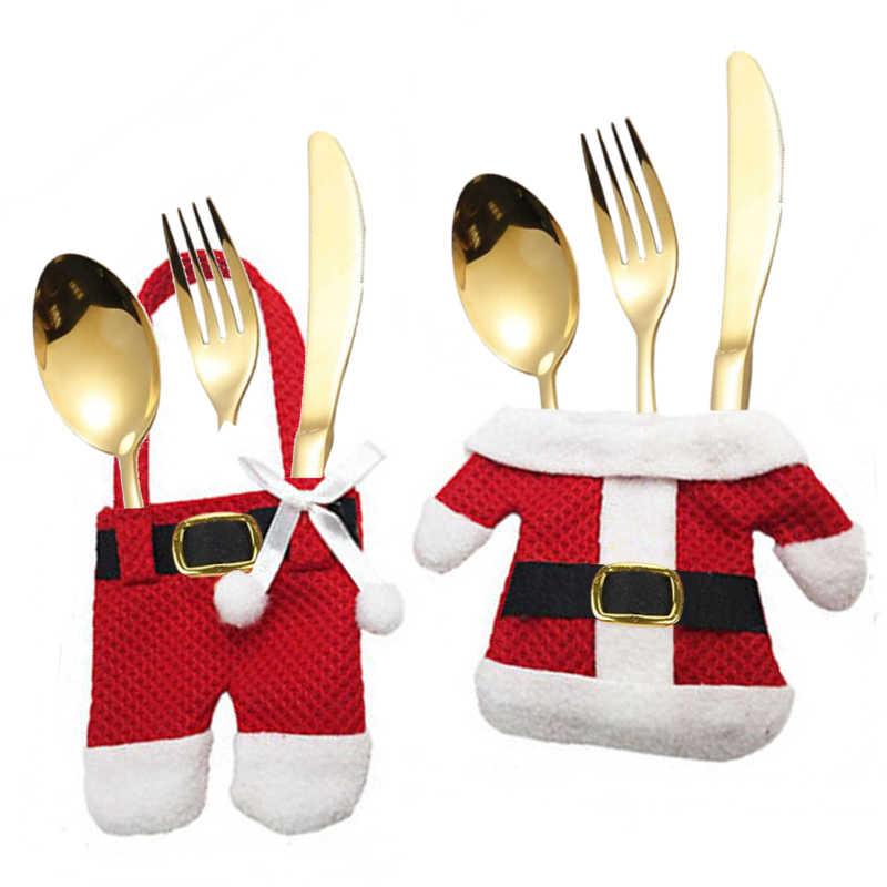 Porte-couvert manteau père Noël (x6)