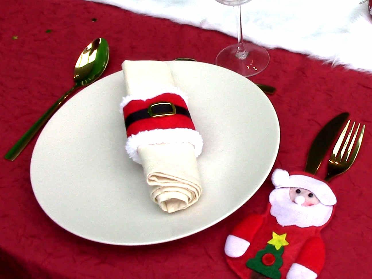 Comment décorer votre table avec un rond de serviette de Noël