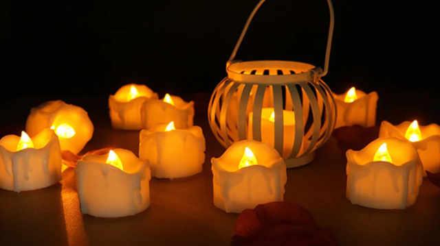 Bougies led à flamme vacillante centre de table lumineux