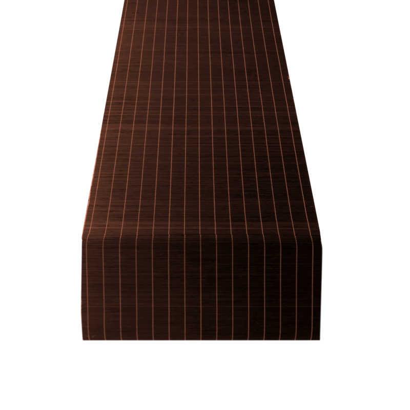 Chemin de table bambou chocolat