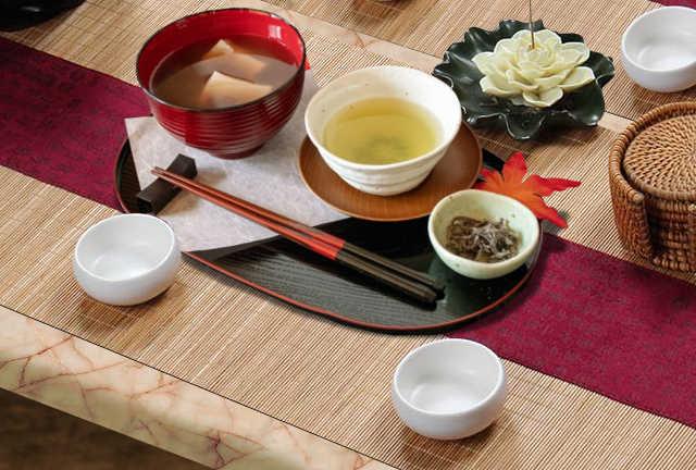 déco de table japonaise et bambous