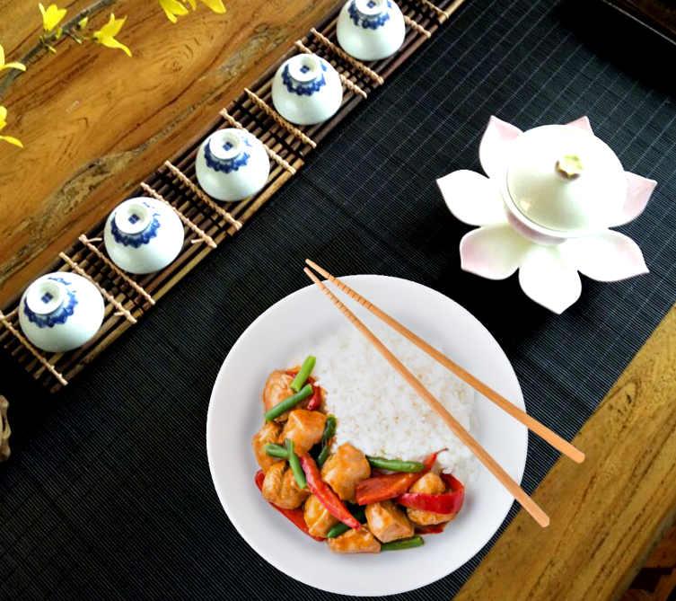 bambou pour deco de table