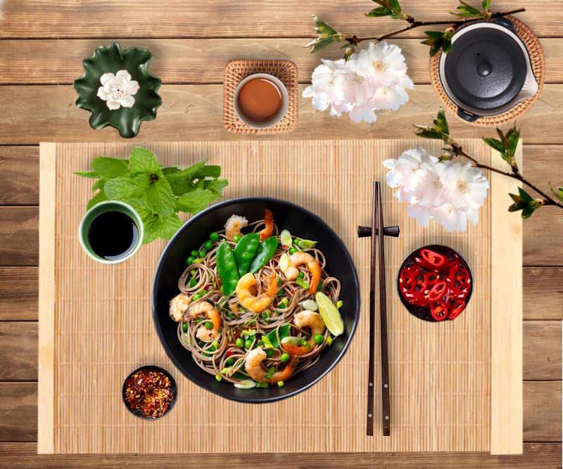 déco de table naturelle bambous