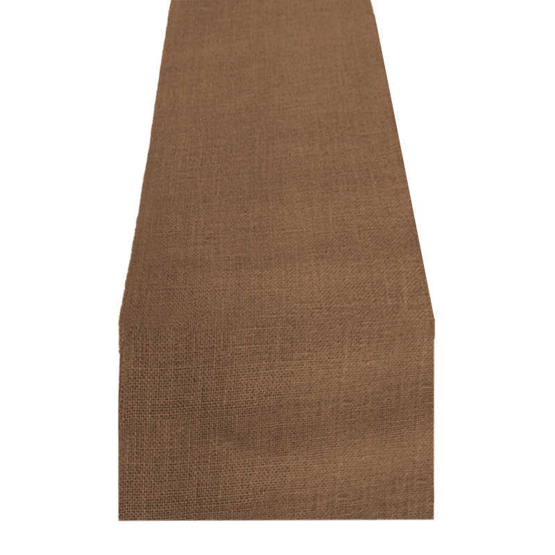 Chemin de table toile de jute marron