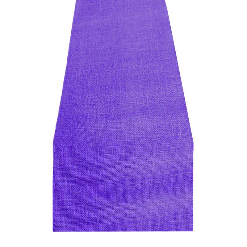 Chemin de table toile de jute violet