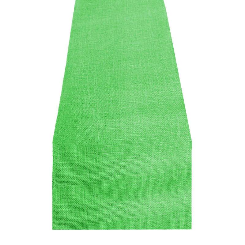 Chemin de table toile de jute vert