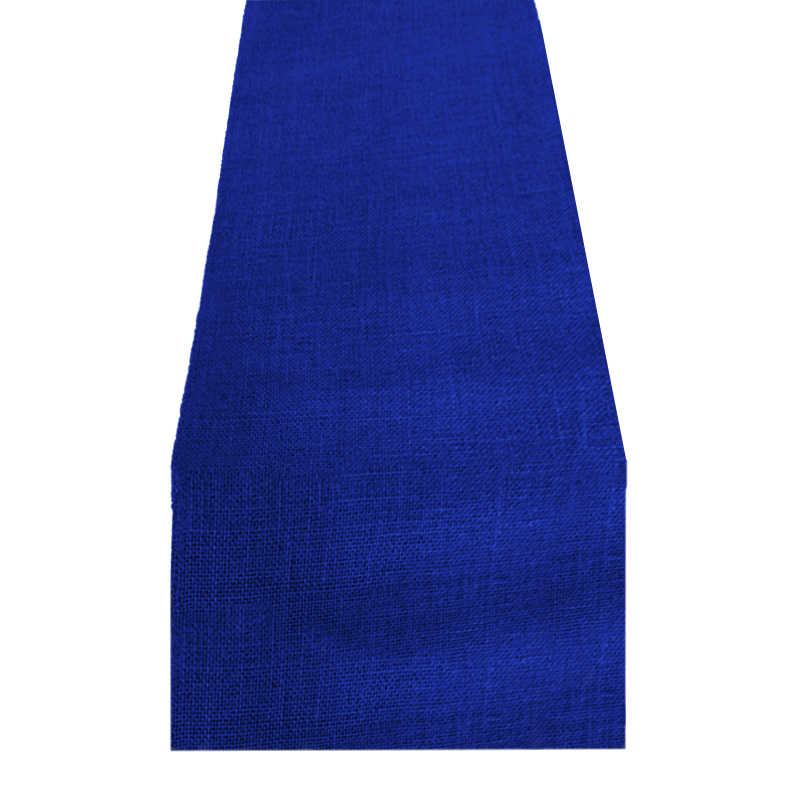 Chemin de table jute bleu