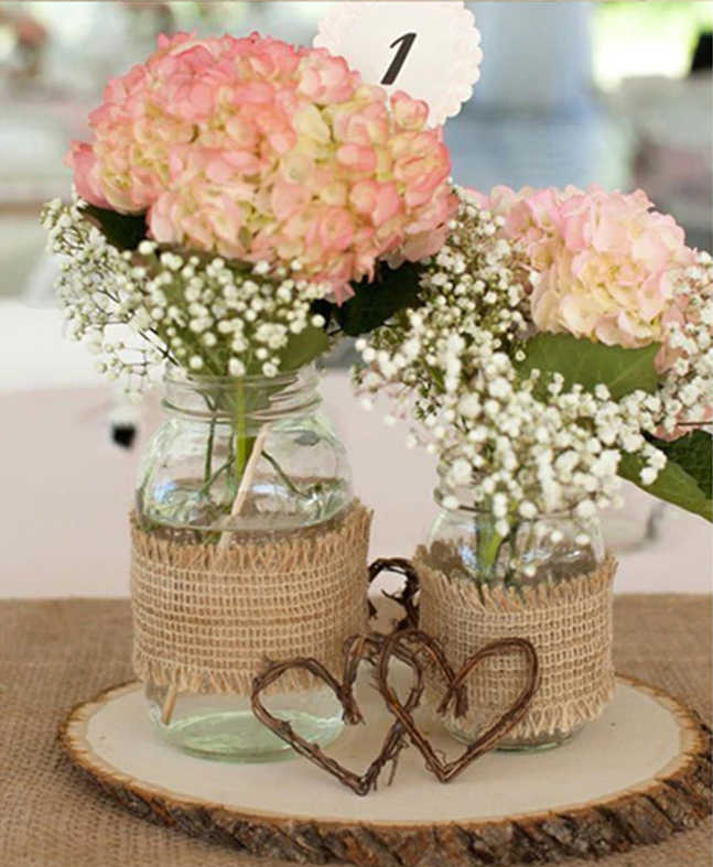 décoration de table mariage toile de jute