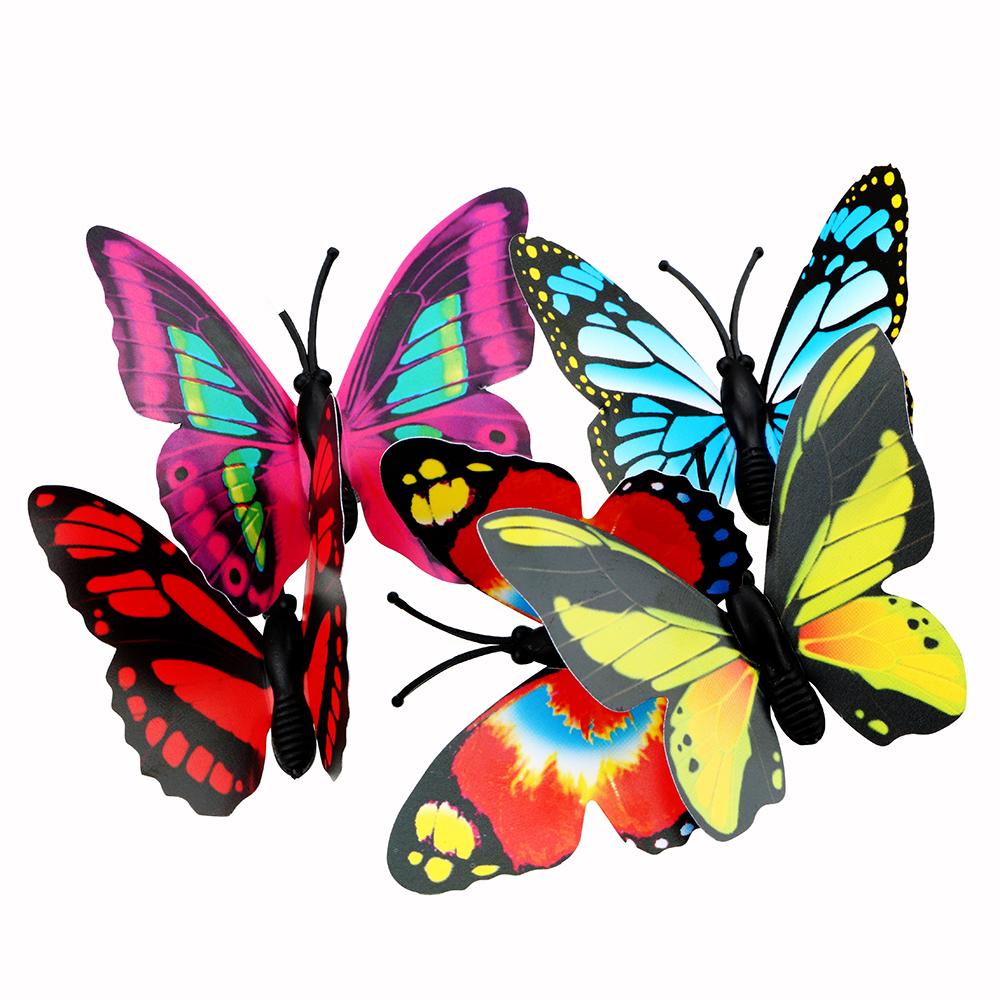 Papillons déco sur tige