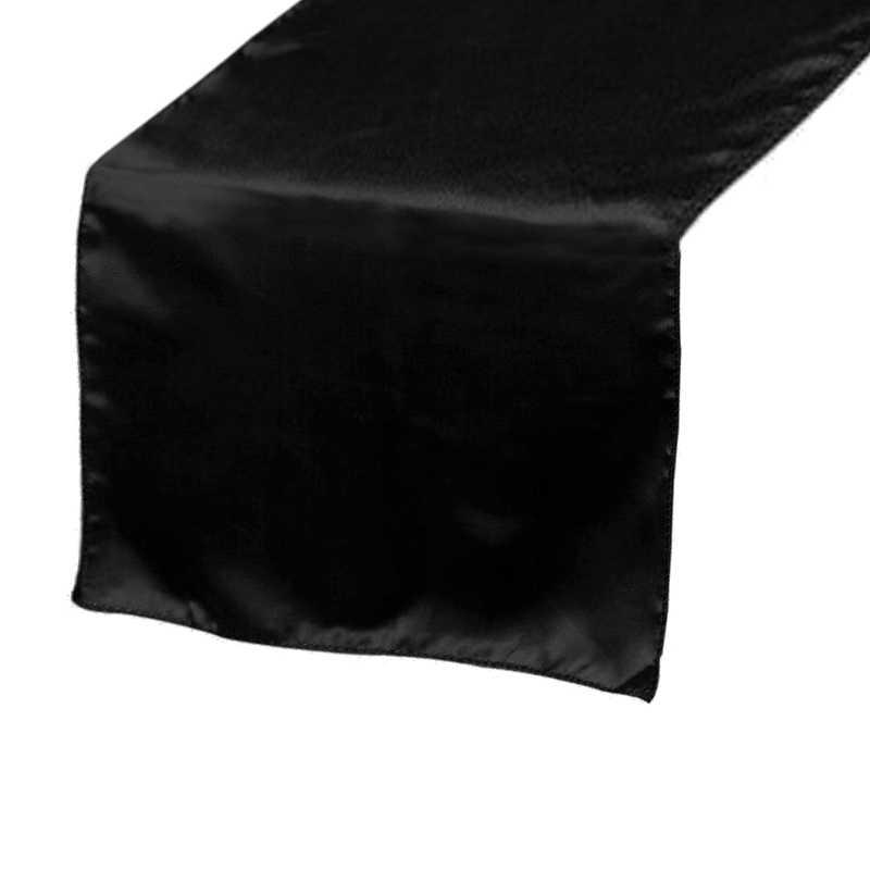 chemin-de-table-satin-noir