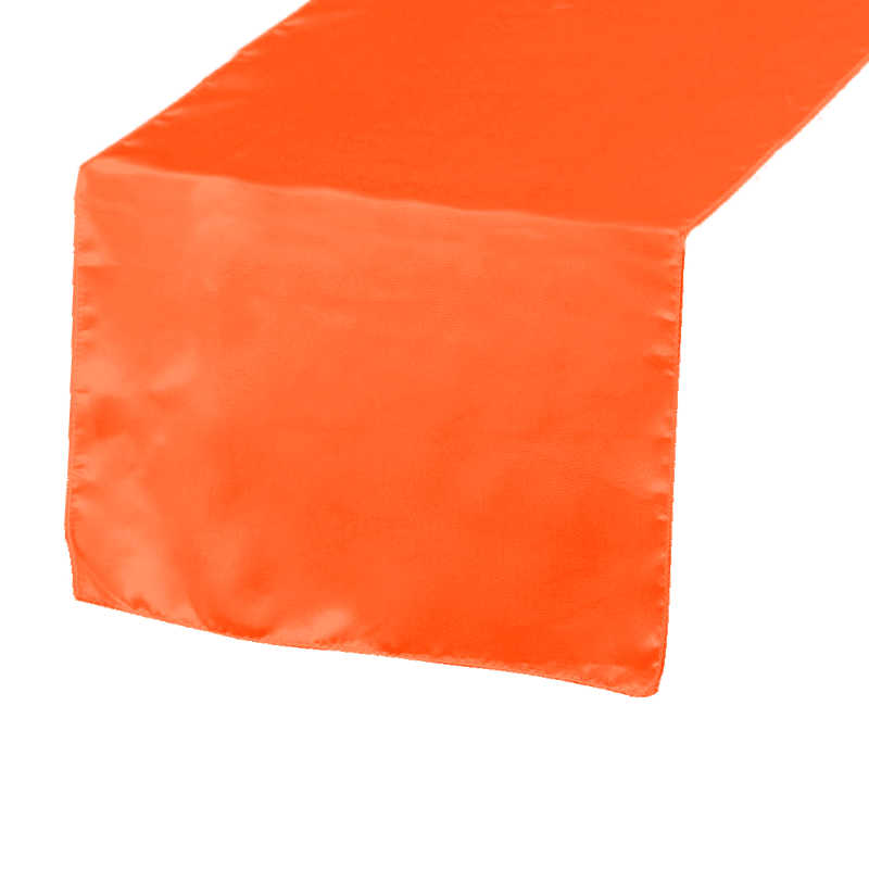 Chemin de table satin orange
