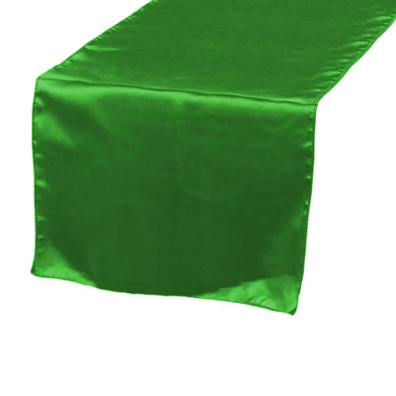 Chemin de table satin vert