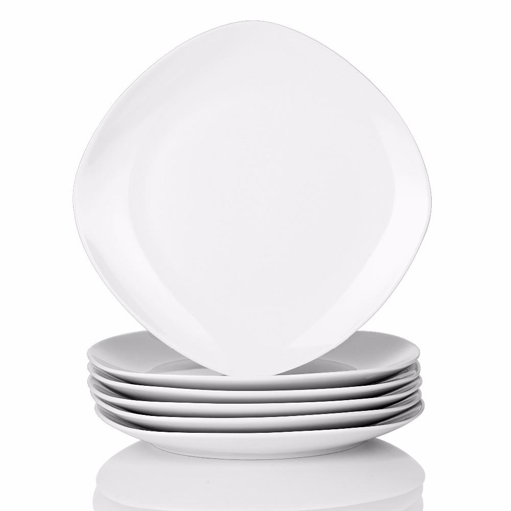 Assiettes plates en faïence (x6)