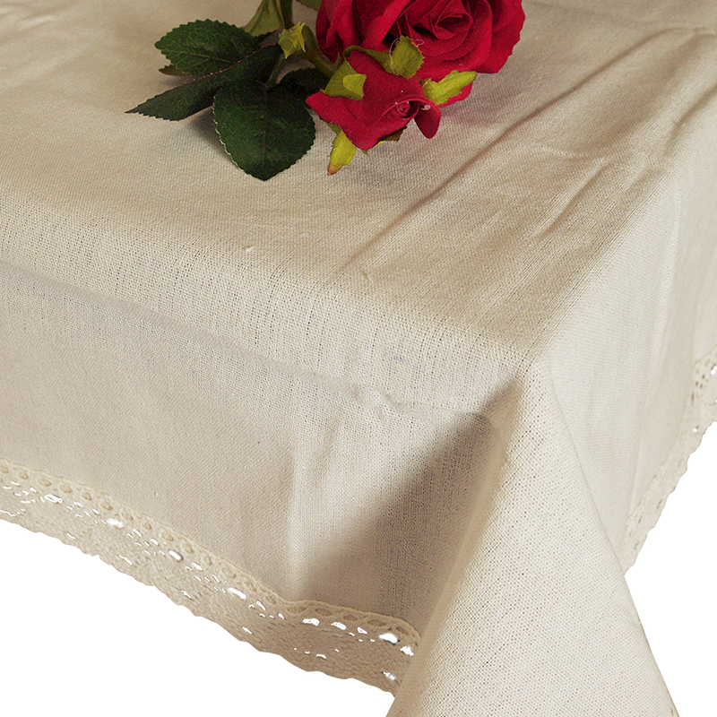 Nappe de table rectangulaire en lin
