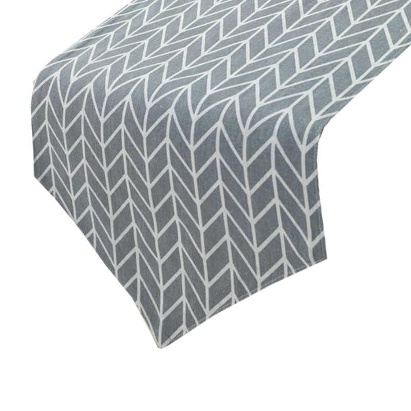 Chemin de table scandinave gris