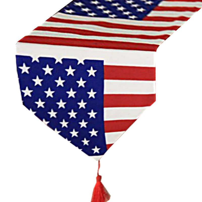 Chemin de table drapeau américain