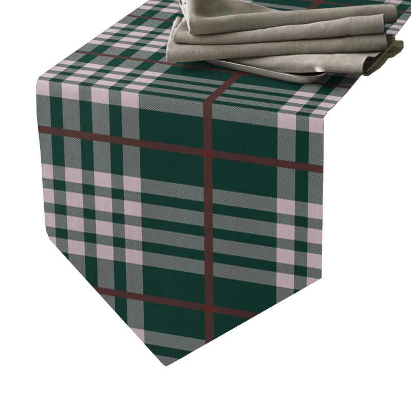 Chemin de table écossais vert