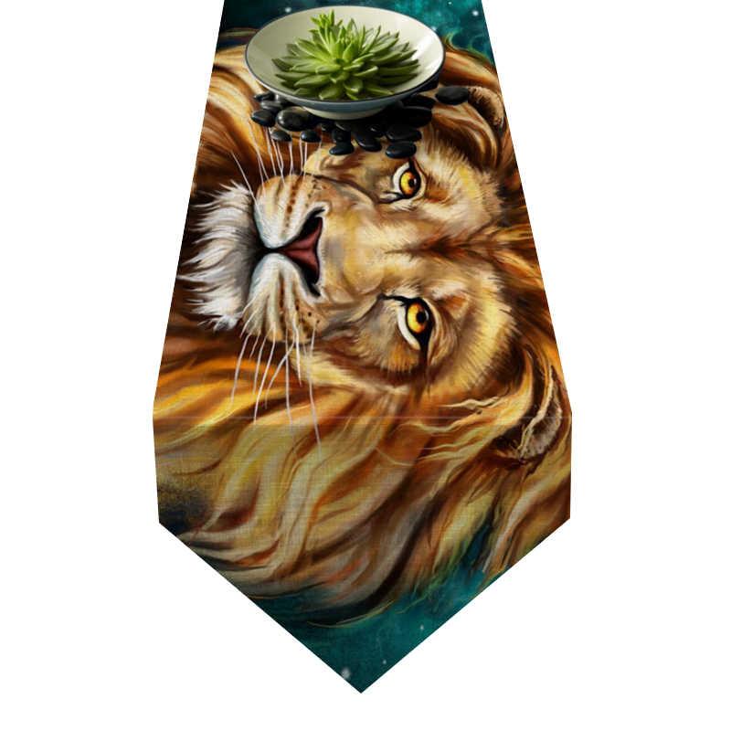 Chemin de table lion