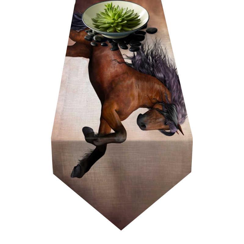 Chemin de table cheval