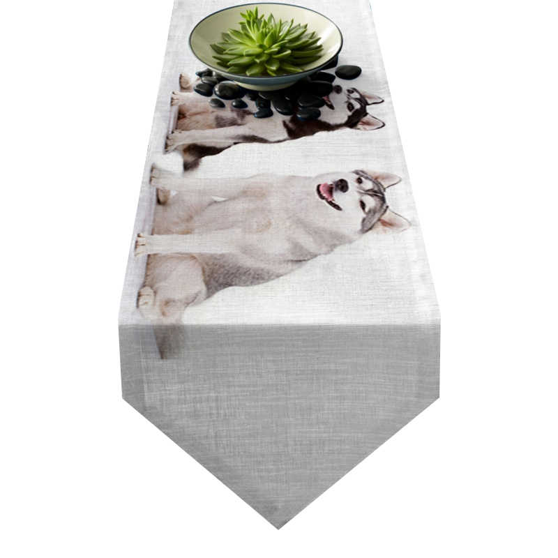 Chemin de table chien husky