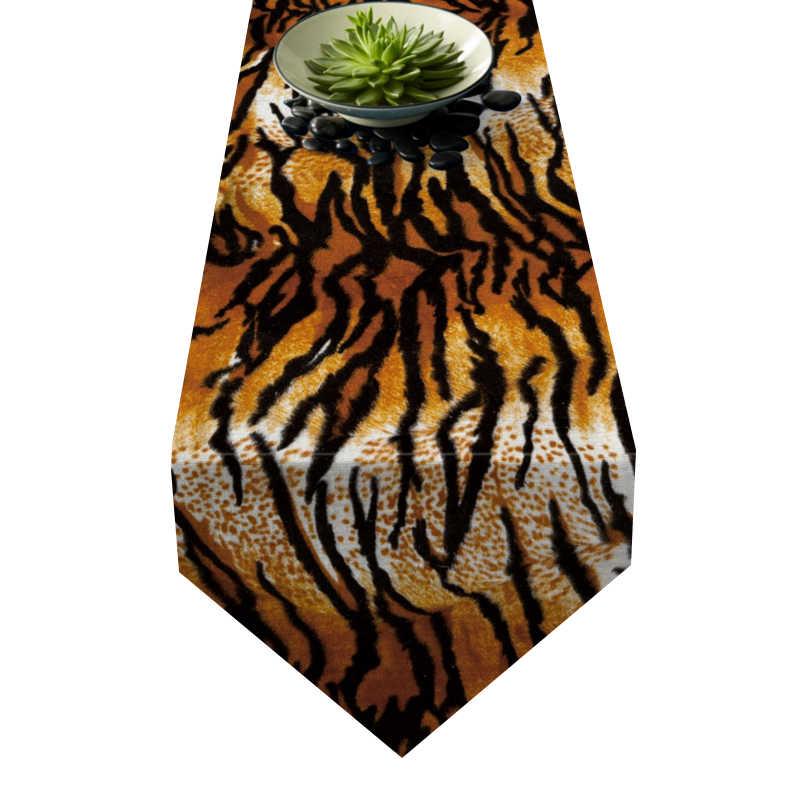 Chemin de table motif tigre