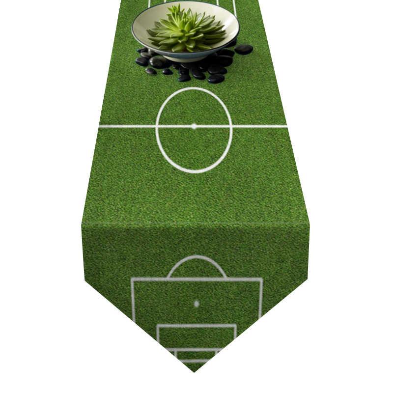 Chemin de table terrain de football