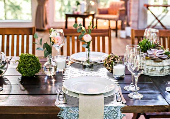 deco table mariage campagnard dentelle