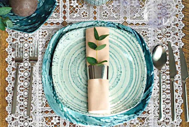 décoration de table mariage dentelle