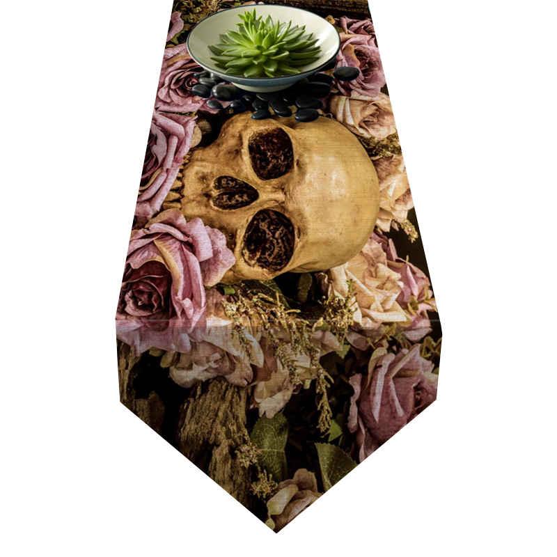 Chemin de table tête de mort