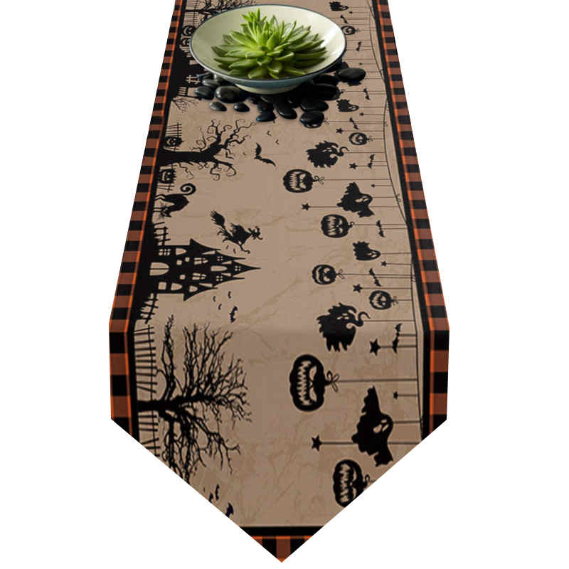 Chemin de table décor d\'halloween