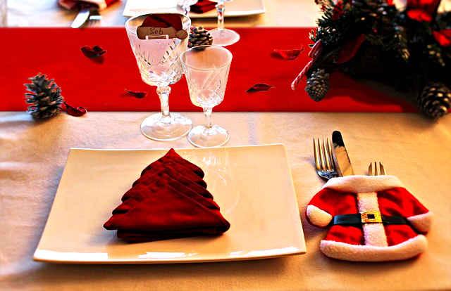 deco table noel rouge