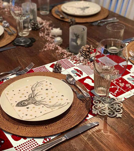 centre de table patchwork noel