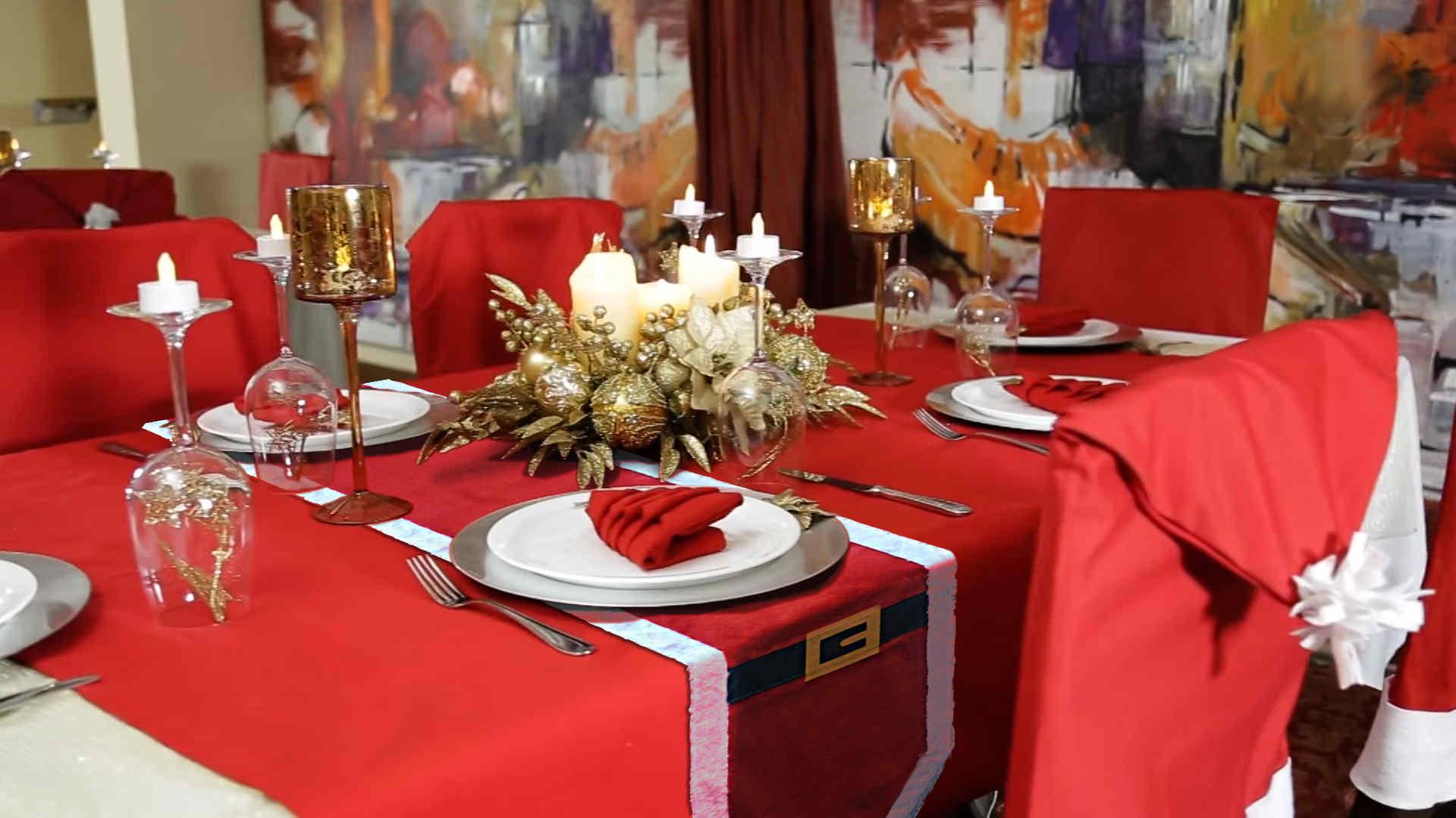 décoration table noel manteau