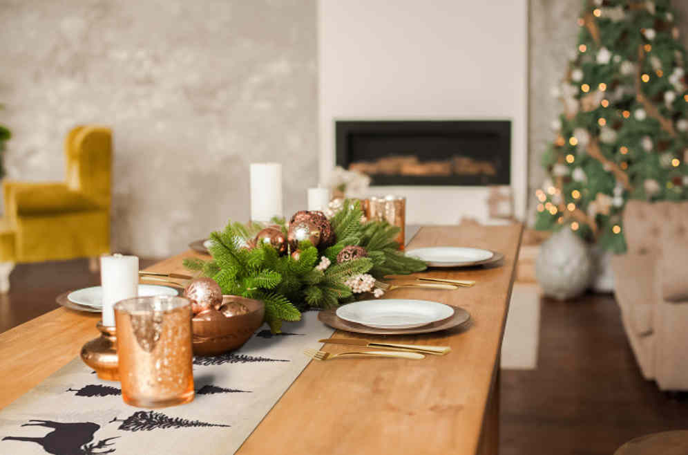 decoration table de noel nordique