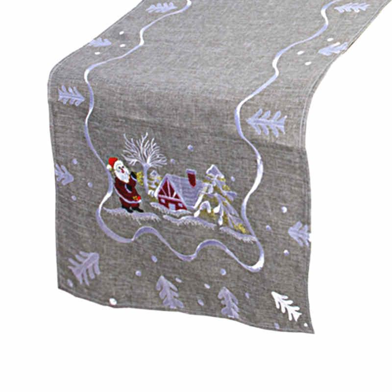 Chemin de table Noël gris