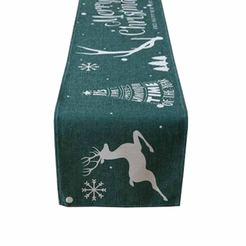 Chemin de table Noël vert